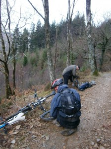 Getting to grips torn tyres and punctured tubes.