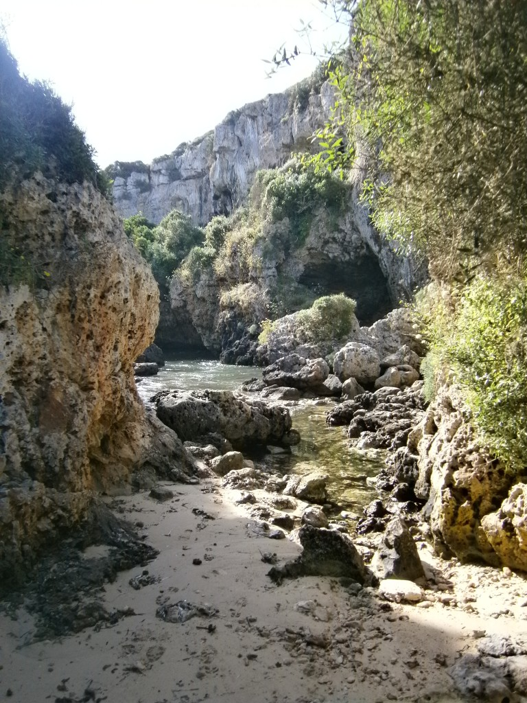 Cala Rafalet - a hidden cove, via a hidden trail - I'd have missed it without a guide.