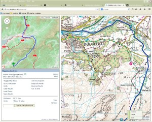 Use the OSMcycle map to identify potential cycleways. Use the enlarged OS Map to identify bridleways and B-roads.
