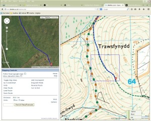Use OS and Satellite images together to identify tracks on the ground.