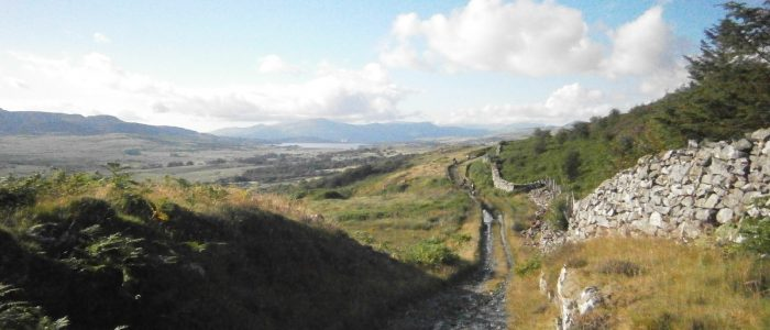 Sarn Helen - the Roman road.